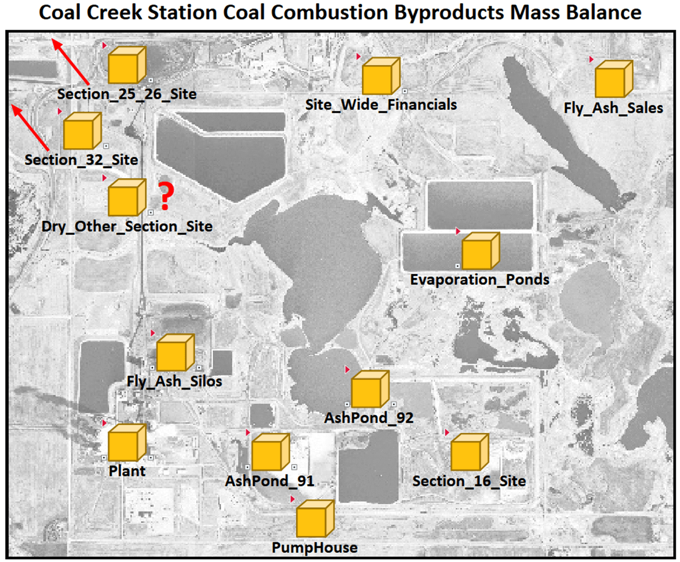 Coal Creek Station coal combustion byproducts mass balance