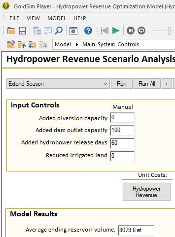 Hydropower Scenarios Player